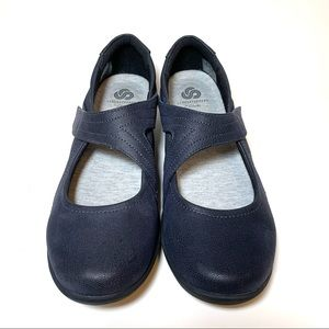 Clarks Sillian Bella Cloudsteppers Mary Jane Navy